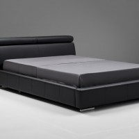 Vertu Leather Platform Bed