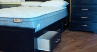 Apollo storage bed solid wood