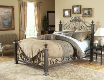 Baroque Metal Bed by FBG