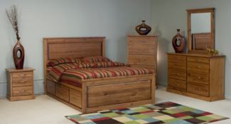 grace storage bed pine finish