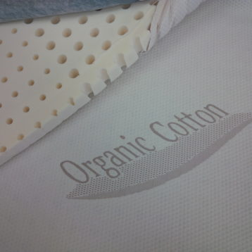 Dunlop Latex Topper with organic cotton cover
