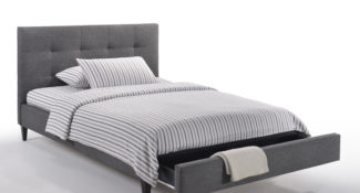 Sage Fabric Platform Queen Bed