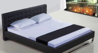 Sleep Shop Mattress Store - Richmond, North Vancouver, Abbotsford, Langley - Comfort EZZ Pillow - Metro Leatherette Platform Bed